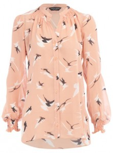 dorothy-perkins-peach-bird-print-blouse