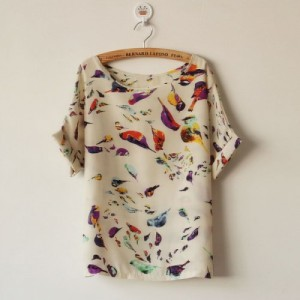 fashionable_colorful_birds_print_blouse_2