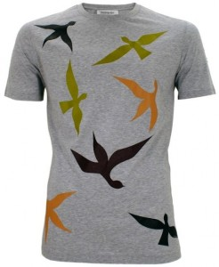 Yves-Saint-Laurent-Fall-2011-Bird-Print-T-Shirts-2