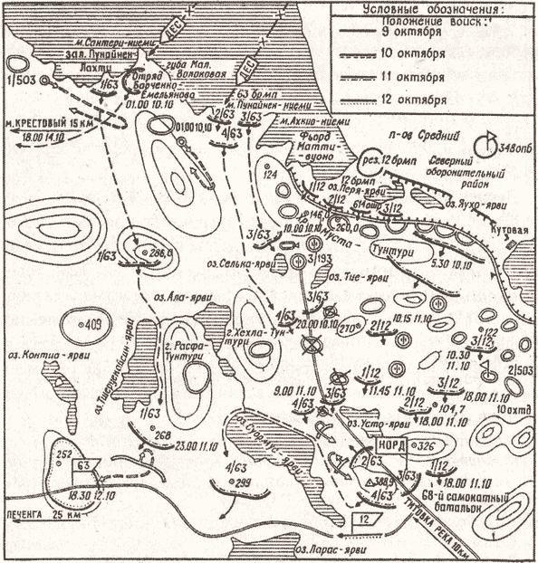 Действия морской пехоты при Петсамо-Киркенесской операции
