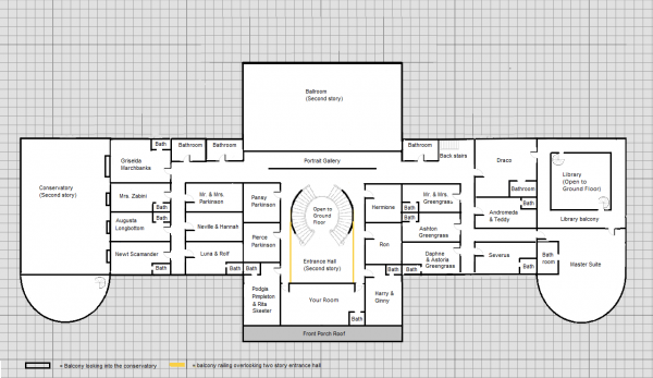 Malfoy manor floor plans brutus the bold for Manor floor plans