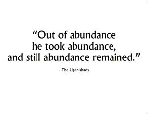 Upanishads-Abundance