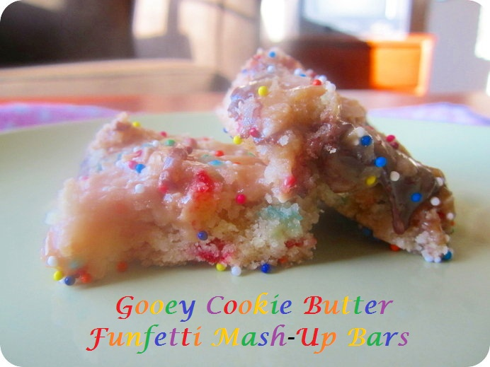 Gooey Cookie Butter Funfetti Mash-Up Bars (7.29.12)