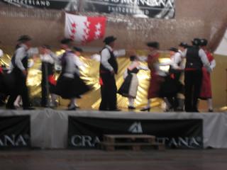 Demonstrating some Swiss folk dances