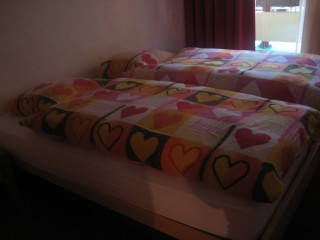 The adorable beds from our room :)