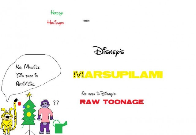 Happy Holidays from Marsupilami and Maurice.