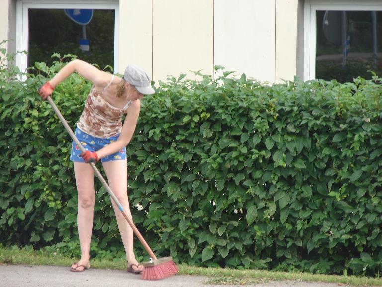 Уборщица мусора