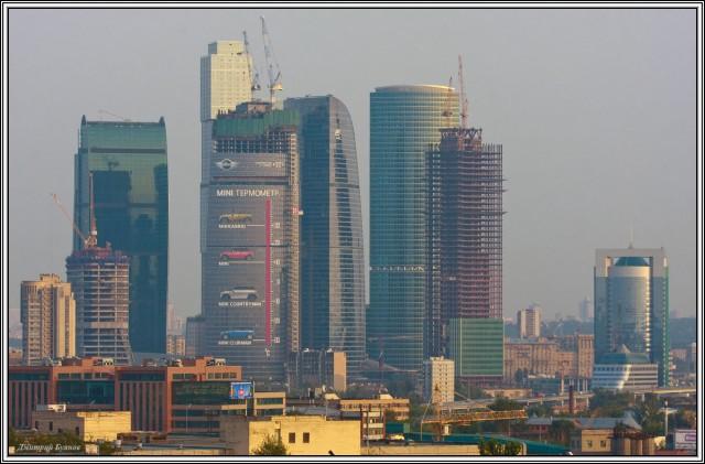 MINI градусник на Москва-Сити