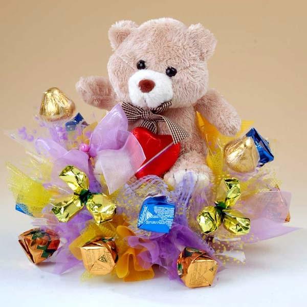 букеты из конфет на праздник