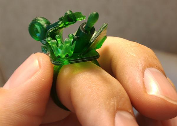 Напечатанное кольцо