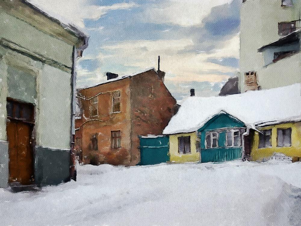 Черновцы зимой  (улицы)