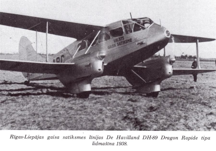 Самолет авиалинии Рига-Лиепая (1938)