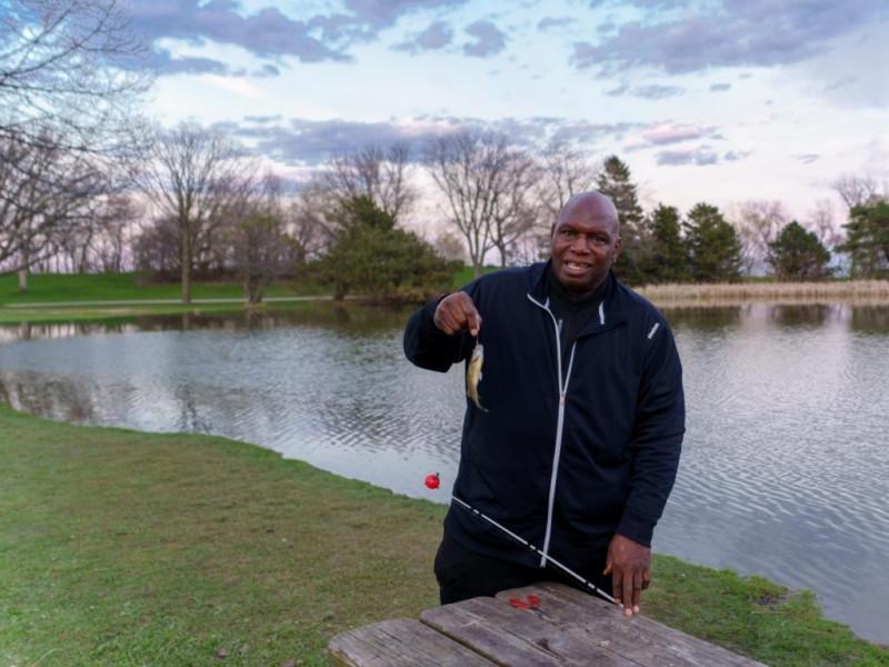 Фото 2. Успех рыбака.