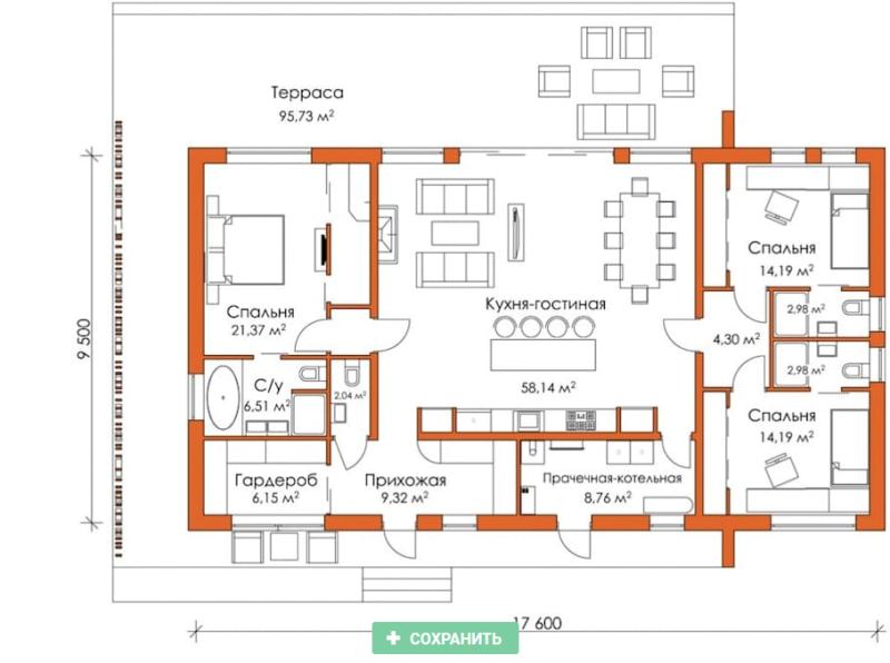 Дом в стиле минимализм 150 кв. метров 2017-12-05_12-47-46