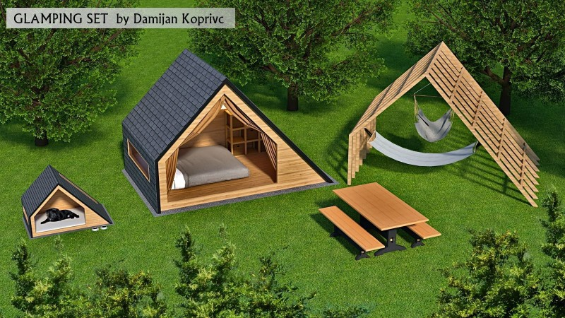 glamping-unit-3d-model-3d-model-low-poly-skp