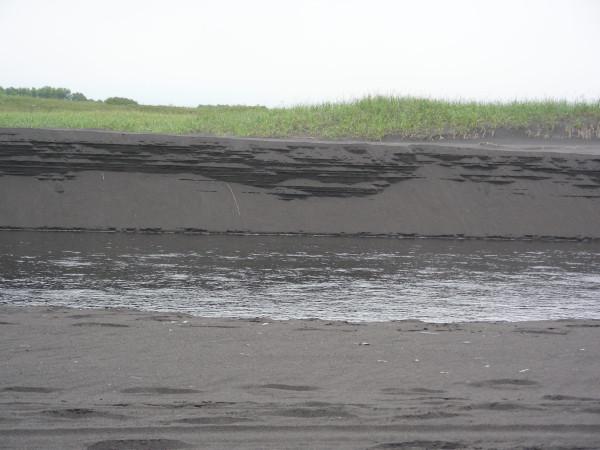 Чёрные пески Камчатки.