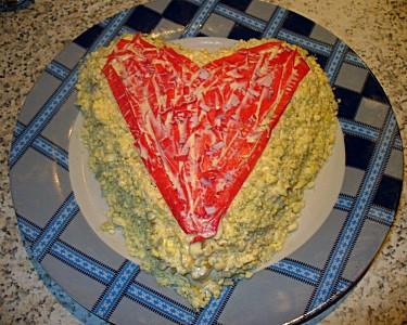 салат любящее сердце