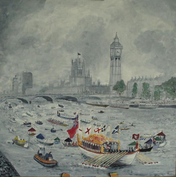 Jubilee flotilla painting