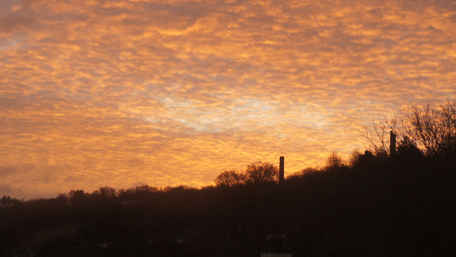 Sunrise in the Tamar Valley