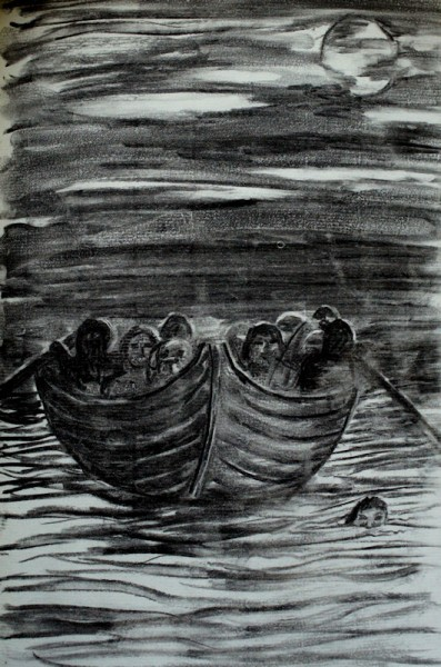 Approaching the Northern Shore, Turnpyke takes to the waters