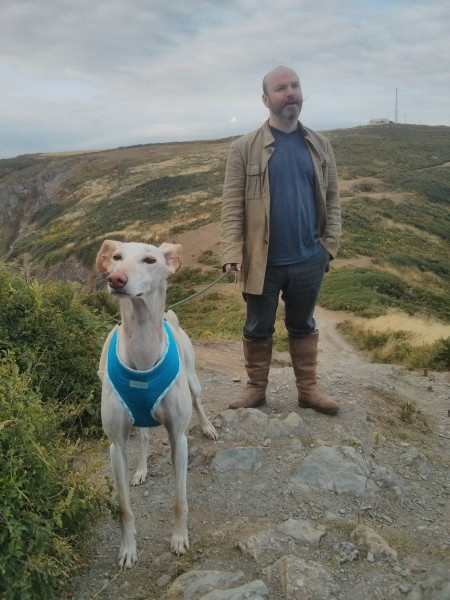 PP and rosie on Rame Head