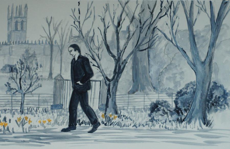 Jim walks past Magdalen