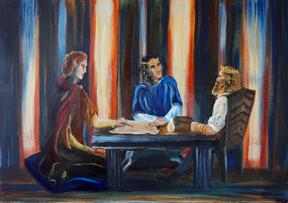 Maedhros and Fingon meet with Azaghâl