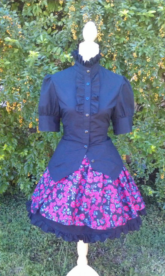 blouse with a skirt