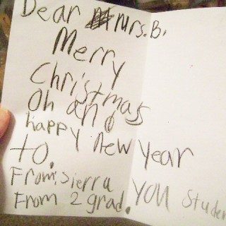 Holiday Wishes from my students