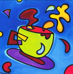 """Схема вышивки  """"Чашка """": таблица цветов."""