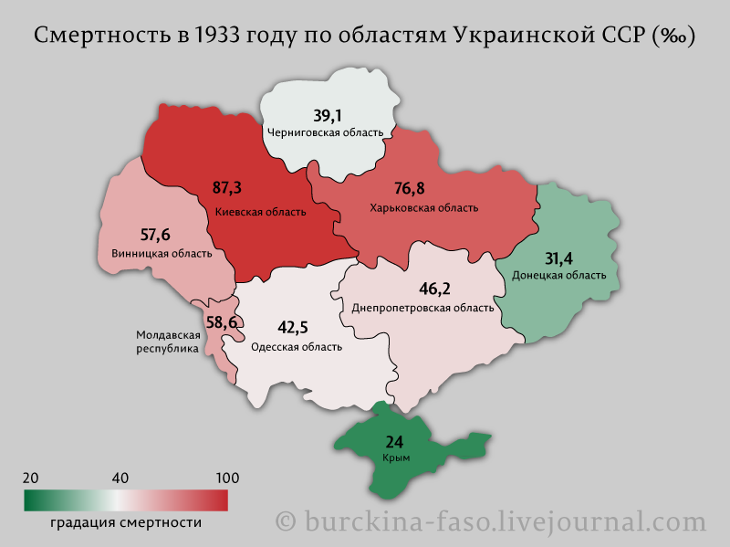 Смертность-в-1933-году-по-областям-Украинской-ССР-(‰)