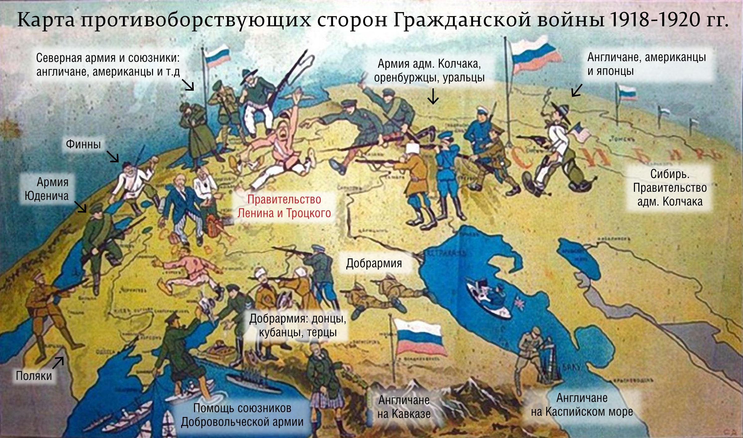карта-Гражданкской-войны
