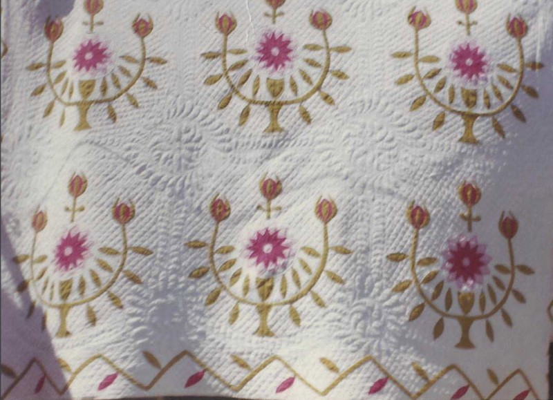 Quilt made by Mary Cloe circa 1855