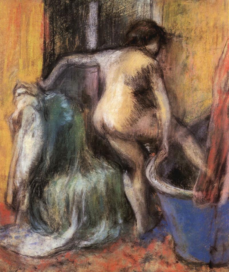 Эдгар Дега - Обнаженная входящая в ванну - 1900.jpg