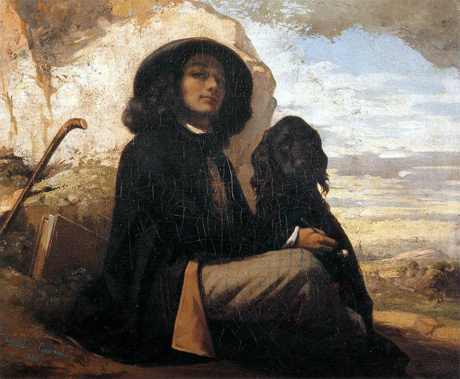 Автопортретс чёрной собакой - 1842.jpg