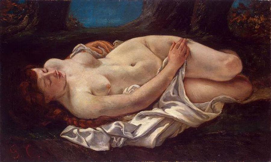 Отдыхающая девушка - 1864-1865.JPG