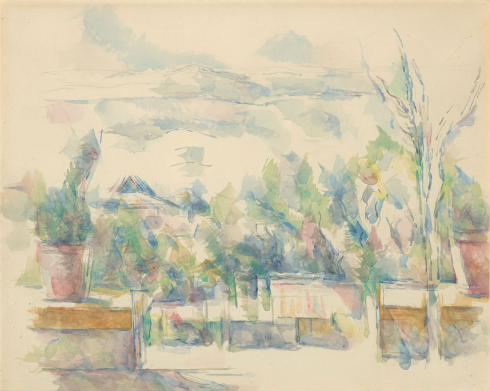 26-Терраса в саду в Лове - Экс ан Прованс - Поль Сезанн 1906.jpg