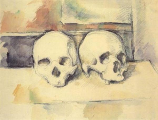 29-Два черепа - Поль Сезанн 1890.jpg