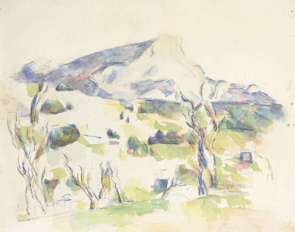 32-Гора Сент-Виктуар со стороны Lauves - Поль Сезанн 1906.jpg