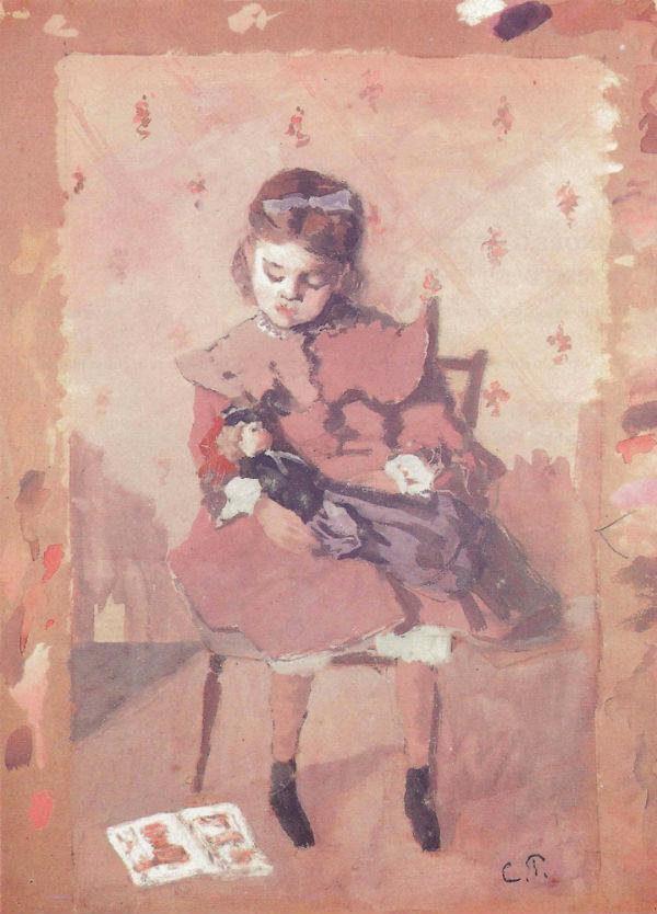 33-Камиль Писсарро - Портрет девочки с куклой.jpg