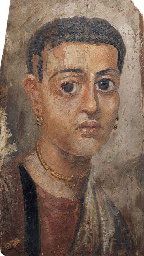 37-Портрет женщины Фаюмский портрет - ІІ век нашей эры - Частное собрание.jpg