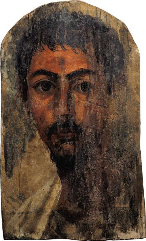 38-Портрет мужчины с бородойФаюмский портрет - І век нашей эры - Частное собрание.jpg