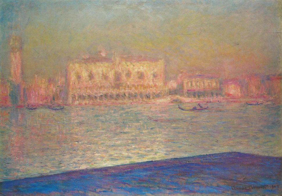 39-Дворец Дожей с острова Сан-Джорджио Маджоре - Венеция - Клод Моне 1908.jpg