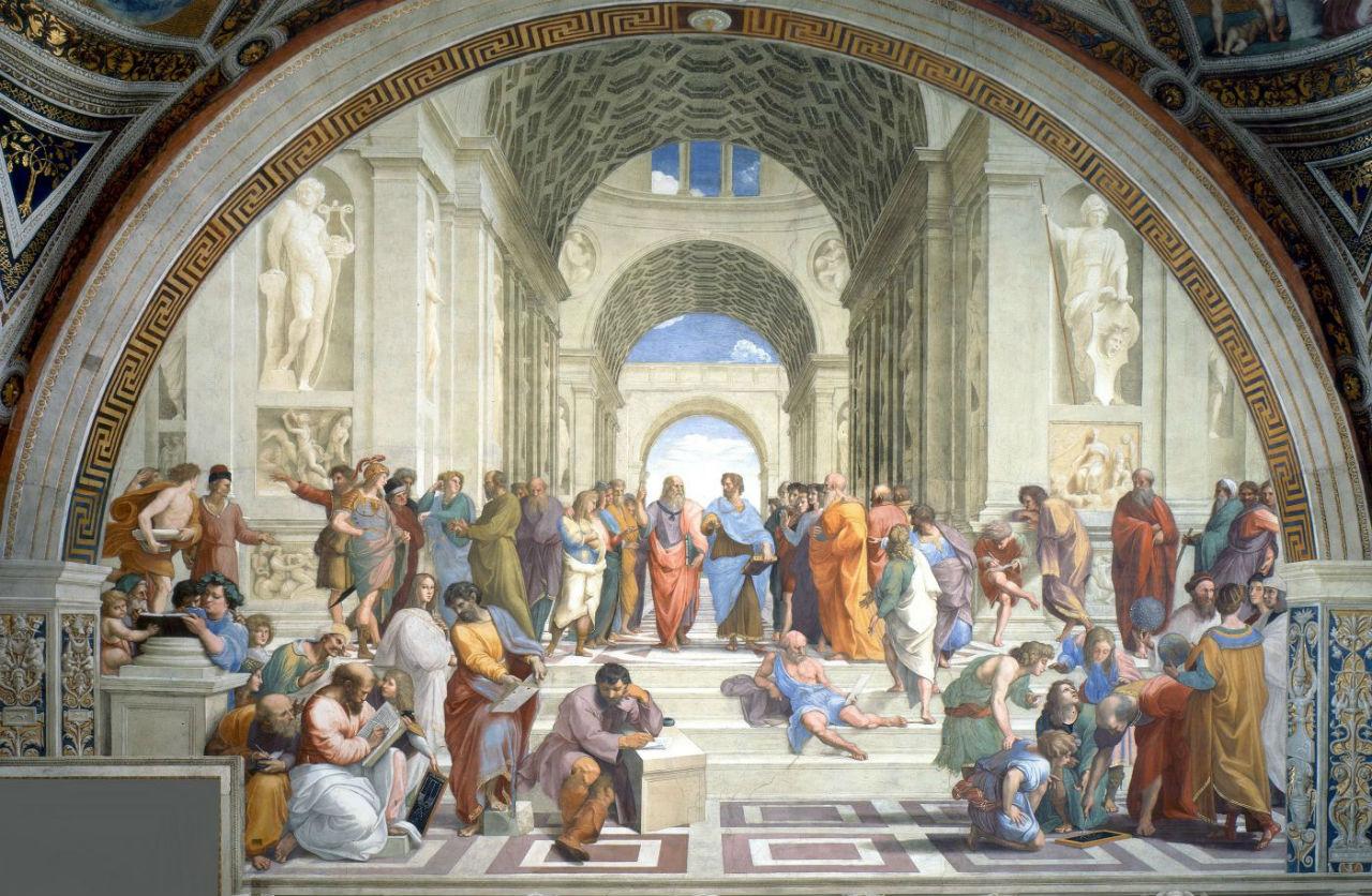 2-Рафаэль Санти - Афинская школа Фреска Станца делла Сеньятура музея Ватикана - 1511.jpg