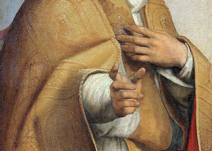 3-Рафаэль Санти - Сикстинская мадонна (фрагмент с мнимым пальцем).jpg