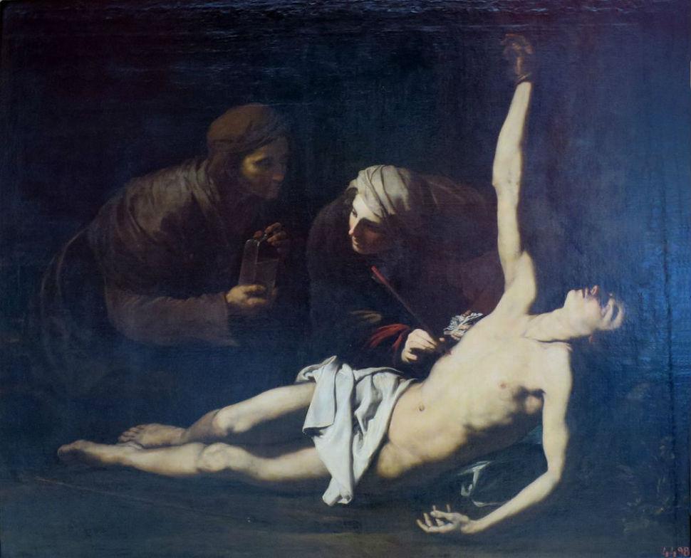1-Хосе де Рибера - Спасение Святого Себастьяна Святой Ириной.jpg
