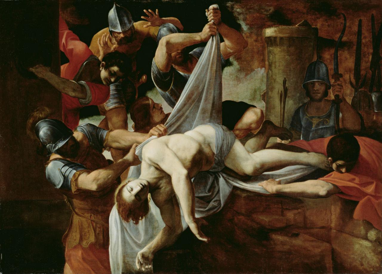 3-Лодовико Карраччи - Святой Себастьян брошенный в Клоаку Максиму - 1612.jpg