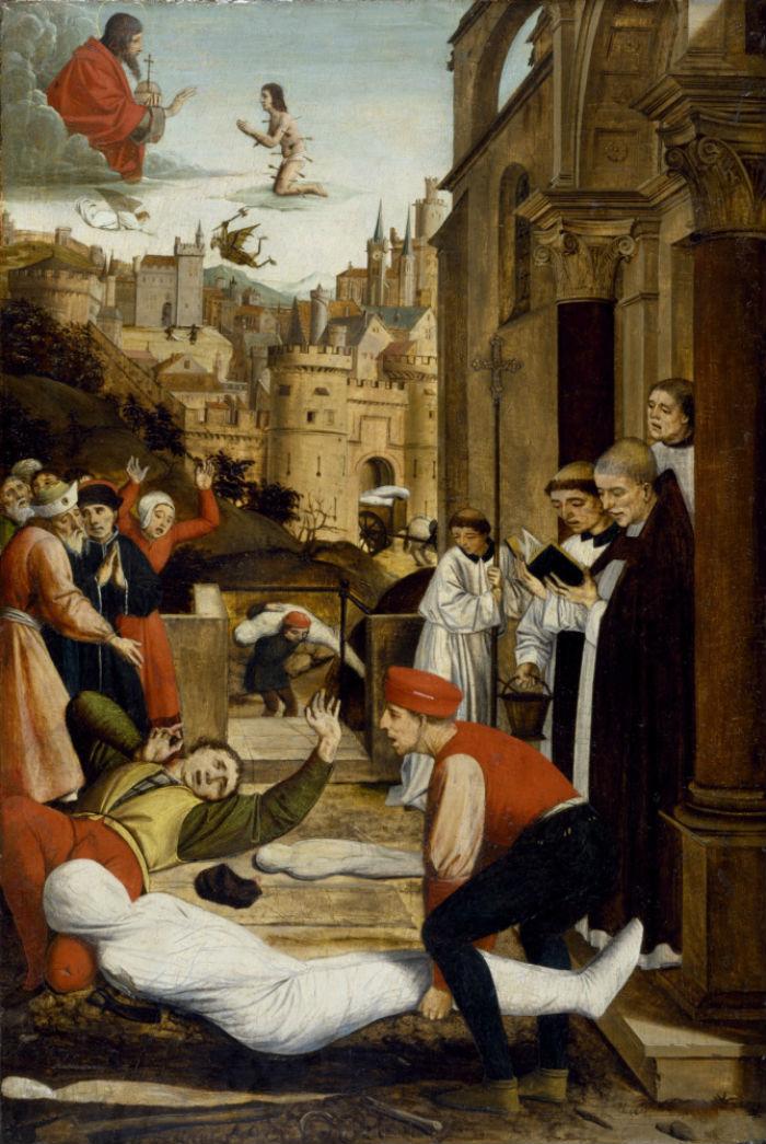 6-Йюссе Лиферинкс - Заступничество святого Себастьяна - 1499.jpg