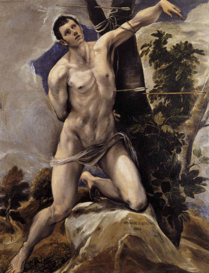 9-Эль Греко (Доменико Теотокопули) - Мученичество святого Себастьяна - 1579.jpg