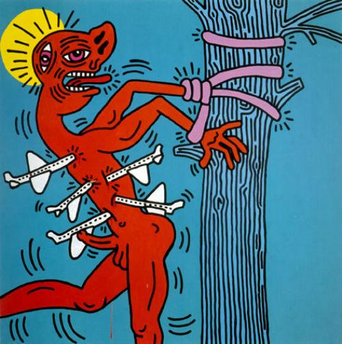 11-Кит Харинг - Святой Себастьян - 1984.jpg